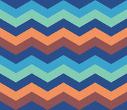 Μπλε πορτοκαλί άνευ ραφής υπόβαθρο σχεδίων τρεκλίσματος αναδρομικό Στοκ φωτογραφία με δικαίωμα ελεύθερης χρήσης