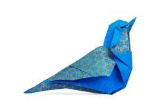 Μπλε πουλί Origami Στοκ φωτογραφίες με δικαίωμα ελεύθερης χρήσης