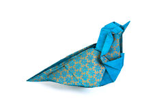 Μπλε πουλί Origami Στοκ Εικόνες