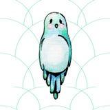 Μπλε πουλί watercolor Στοκ φωτογραφίες με δικαίωμα ελεύθερης χρήσης