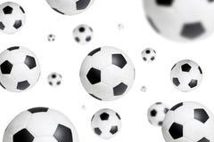 μπλε ποδόσφαιρο ουρανού πετάγματος σφαιρών ανασκόπησης Στοκ φωτογραφία με δικαίωμα ελεύθερης χρήσης
