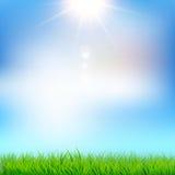 μπλε πράσινος ουρανός χλόης Διανυσματική απεικόνιση EPS10 απεικόνιση αποθεμάτων