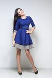 μπλε προκλητική γυναίκα &ph στοκ φωτογραφίες