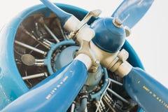 Μπλε προωστήρων αεροσκαφών μηχανών Στοκ εικόνες με δικαίωμα ελεύθερης χρήσης