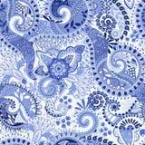 μπλε πρότυπο άνευ ραφής Στοκ Εικόνες