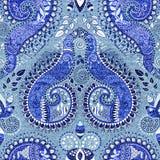 μπλε πρότυπο άνευ ραφής Στοκ Εικόνα