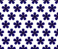 Μπλε πρότυπο λουλουδιών Στοκ Φωτογραφίες