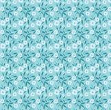 μπλε πρότυπο λουλουδιώ Στοκ εικόνες με δικαίωμα ελεύθερης χρήσης