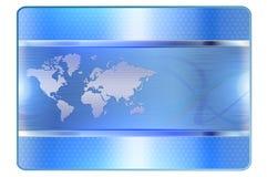 Μπλε πρότυπο πιστωτικών καρτών Στοκ Φωτογραφία