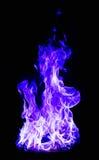 Μπλε πυρκαγιά στο μαύρο υπόβαθρο Στοκ Εικόνα