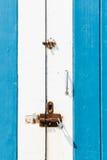 μπλε πόρτα παλαιά Στοκ Εικόνες