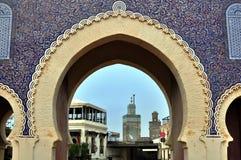 Μπλε πύλη, Fes, Μαρόκο Στοκ εικόνες με δικαίωμα ελεύθερης χρήσης