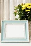 Μπλε πλαίσιο πλαστό UPS, ψηφιακό πρότυπο, πρότυπο επίδειξης, ορισμένο θάλασσα θάλασσας πρότυπο φωτογραφίας αποθεμάτων, ζωηρόχρωμη Στοκ Εικόνες