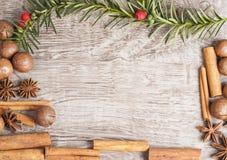 μπλε πλαίσιο Χριστουγέν&nu Στοκ Φωτογραφίες