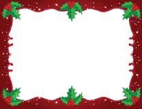 μπλε πλαίσιο Χριστουγέν&nu Στοκ Εικόνες