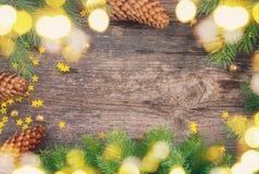 μπλε πλαίσιο Χριστουγέν&nu Στοκ εικόνα με δικαίωμα ελεύθερης χρήσης