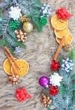 μπλε πλαίσιο Χριστουγέν&nu Στοκ φωτογραφία με δικαίωμα ελεύθερης χρήσης