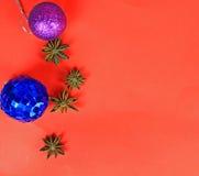 μπλε πλαίσιο Χριστουγέν&nu Στοκ Εικόνα