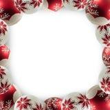 μπλε πλαίσιο Χριστουγένν διανυσματική απεικόνιση