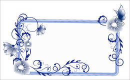 Μπλε πλαισίων λουλουδιών διανυσματική απεικόνιση