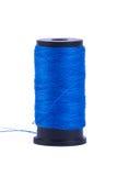 Μπλε ράβοντας νήμα Στοκ Φωτογραφίες