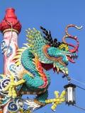 Μπλε δράκος κινέζικα Στοκ εικόνα με δικαίωμα ελεύθερης χρήσης