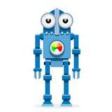 1 μπλε ρομπότ Στοκ Εικόνες