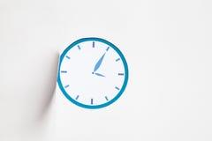 Μπλε ρολόι εικονιδίων Στοκ Εικόνες