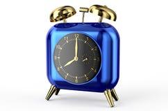 Μπλε ρολόι με μορφή της καρδιάς Στοκ φωτογραφία με δικαίωμα ελεύθερης χρήσης