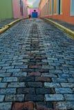 Μπλε δρόμος τούβλου Στοκ φωτογραφία με δικαίωμα ελεύθερης χρήσης