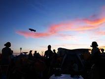 Μπλε ρόδινος ουρανός Στοκ Φωτογραφίες