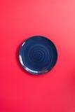 Μπλε ρόδινο υπόβαθρο ύφους πιάτων ιαπωνικό Στοκ Φωτογραφία