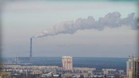 μπλε ρύπανση εργοστασίων ανασκόπησης αέρα στοκ φωτογραφία με δικαίωμα ελεύθερης χρήσης