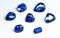 Μπλε σάπφειροι Στοκ Φωτογραφία