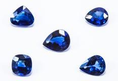 Μπλε σάπφειροι Στοκ Εικόνες