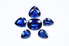 Μπλε σάπφειρος Στοκ Εικόνα