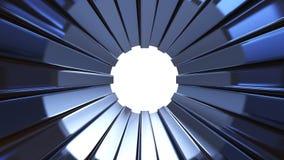 Μπλε σήραγγα μετάλλων Στοκ φωτογραφία με δικαίωμα ελεύθερης χρήσης