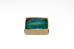 Μπλε σαπούνι loofha Στοκ Εικόνες