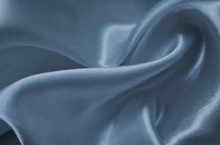 Μπλε σατέν σύστασης Στοκ εικόνες με δικαίωμα ελεύθερης χρήσης