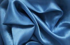 Μπλε σατέν σύστασης Στοκ φωτογραφίες με δικαίωμα ελεύθερης χρήσης