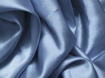 Μπλε σατέν σύστασης Στοκ Εικόνα