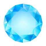Μπλε σαφές διάνυσμα άποψης διαμαντιών τοπ Στοκ Εικόνες