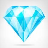 Μπλε σαφές διάνυσμα πλάγιας όψης διαμαντιών Στοκ φωτογραφία με δικαίωμα ελεύθερης χρήσης