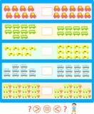μπλε σειρά γρίφων παιχνιδιών γκρίζα Στοκ Φωτογραφία