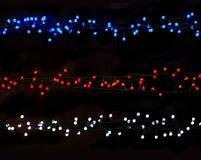 Μπλε σειρές λευκού και κόκκινου φωτός Στοκ εικόνες με δικαίωμα ελεύθερης χρήσης