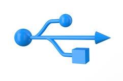 Μπλε σημάδι usb Στοκ Εικόνα