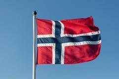 μπλε σημαία που γίνεται το νορβηγικό κόκκινο διανυσματικό λευκό Στοκ Εικόνα