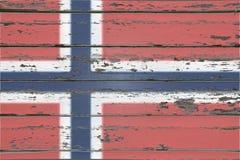 μπλε σημαία που γίνεται το νορβηγικό κόκκινο διανυσματικό λευκό Στοκ Εικόνες