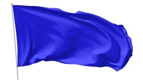Μπλε σημαία στο κοντάρι σημαίας Στοκ Φωτογραφίες