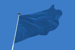 Μπλε σημαία Στοκ Εικόνες